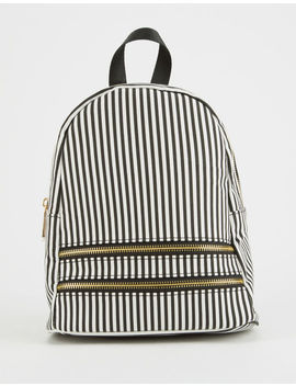 Qupid Striped Mini Backpack by Qupid