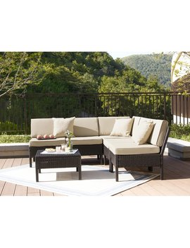 Ebern Designs Farr 6 Piece Rattan Sectional Set With Cushions & Reviews by Ebern Designs