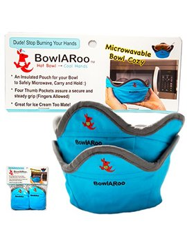 2  Pack Microwavable Heat Resistant Bowl Cozy Holder, Insulated Pouch To Microwave Your Food And Stop Burning Yours Hands   Machine Washable   The Original Bowl A Roo by Bowl A Roo