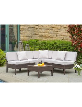 House Of Hampton Mccubbin 6 Piece Rattan Sectional Seating Group With Cushions & Reviews by House Of Hampton