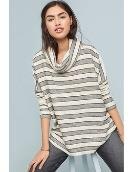 Striped Cowl Neck Tunic by Dolan Left Coast