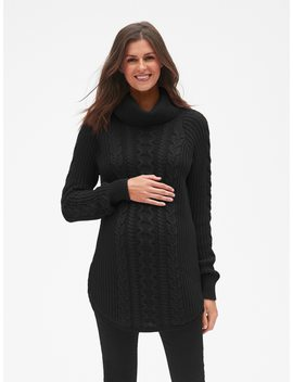 Maternity Cable Knit Turtleneck Pullover Sweater by Gap