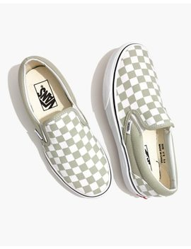 Vans® Unisex Classic Slip On Sneakers In Desert Sage Checkerboard by Madewell