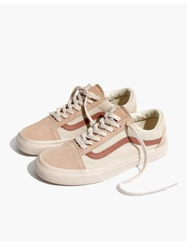 Madewell X Vans® Unisex Old Skool Lace Up Sneakers In Camel Colorblock by Madewell