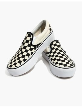 Vans® Unisex Classic Slip On Platform Sneakers In Checkerboard Canvas by Madewell
