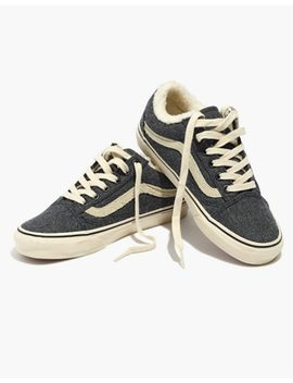 Madewell X Vans® Unisex Old Skool Lace Up Sneakers In Flannel And Sherpa by Madewell