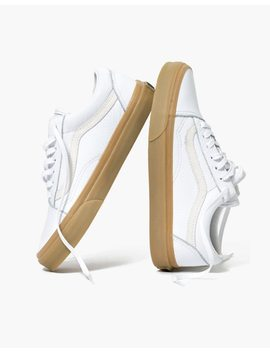 Madewell X Vans® Unisex Old Skool Lace Up Sneakers In Tumbled Leather by Madewell