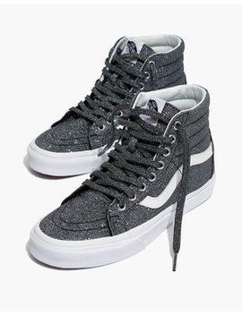 Vans® Unisex Sk8 Hi Reissue High Top Sneakers In Black Glitter by Madewell