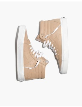 Vans® Unisex Sk8 Hi Reissue High Top Sneakers In Sesame Leather by Madewell