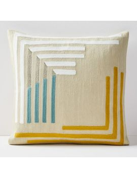 Crewel Concentric Angles Pillow Covers by West Elm