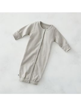 Cozy Cotton Organic Grey Wearable Blanket by Crate&Barrel