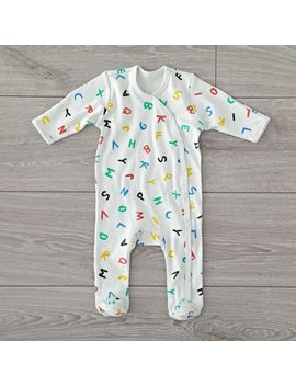 Organic Alphabet 0 3 Months Baby Footie by Crate&Barrel
