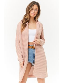 Hooded Longline Cardigan by Forever 21