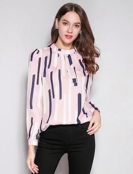 Keyhole Back Stripe Shirt by Sheinside