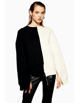 **Colour Block Sweatshirt By Boutique by Topshop