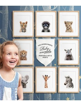 Safari Nursery, Baby Animal Nursery Art, Printable Art, African & Asian Animals, Safari Animals, Safari Animal Prints,  Nursery Wall Decor by Etsy