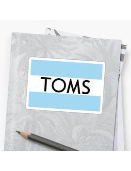 Toms Shoes by Barn Stickers