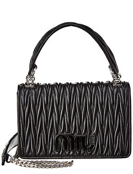 Miu Miu Matelasse Leather Top Handle Satchel by Miu Miu