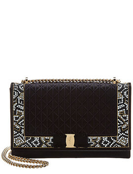 Salvatore Ferragamo Vara Mosaic Embroiderd Shoulder Bag by Salvatore Ferragamo