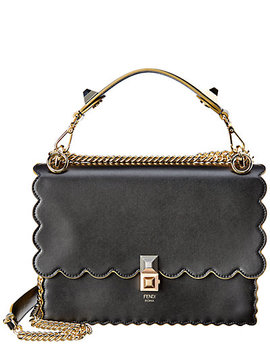 Fendi Kan I Scalloped Leather Satchel by Fendi