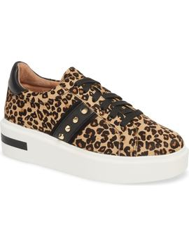 Knox Ii Platform Genuine Calf Hair Sneaker by Linea Paolo