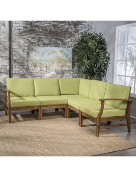 Foundry Select Butler 5 Piece Sectional Set With Cushions & Reviews by Foundry Select