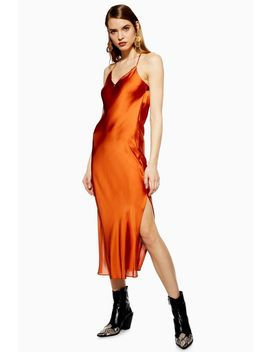 Petite Satin Slip Dress by Topshop
