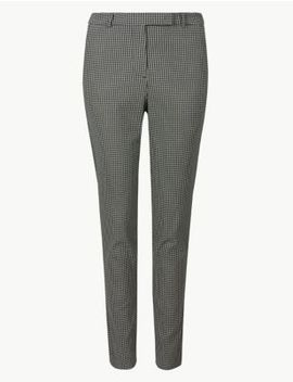 Checked Ankle Grazer Trousers by Marks & Spencer