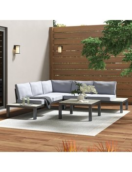 Mercury Row Claunch 4 Piece Sectional Set With Cushions & Reviews by Mercury Row