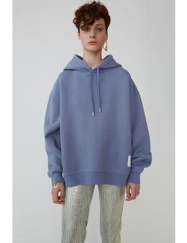 Hooded Sweatshirt Blue Melange by Acne Studios