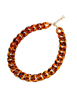 2016 New Leopard Print Chain Necklace Bohemian Chunky Long Collar Choker Necklaces For Women Bijoux Fashion Boho Jewelry by Ali Express