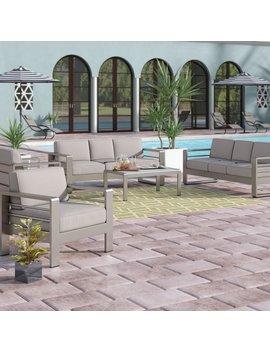 Wade Logan Durbin 5 Piece Sofa Set With Cushions & Reviews by Wade Logan