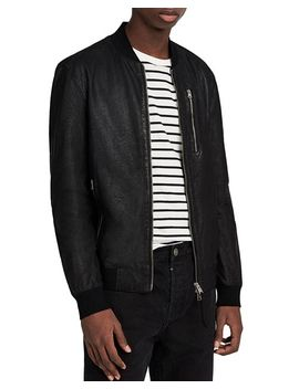 Kino Leather Regular Fit Bomber Jacket by Allsaints