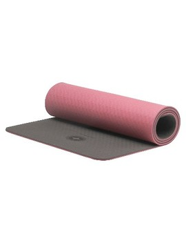 Stott Pilates Eco Deluxe Mat   Pink/Gray (10mm) by Stott Pilates