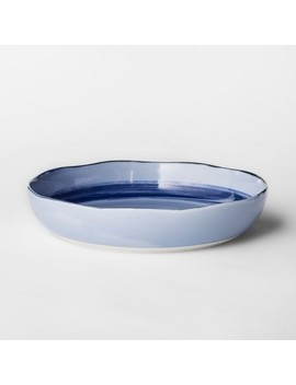 24.8oz Porcelain Valetta Bowl Blue   Project 62™ by Project 62