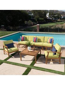 Brayden Studio Turlock 4 Piece Sofa Set With Cushions by Brayden Studio