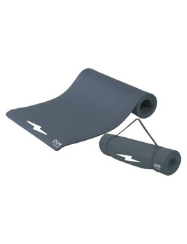 Pure Fitness Extra Thick High Density Exercise Mat   Charcoal by Pure Fitness
