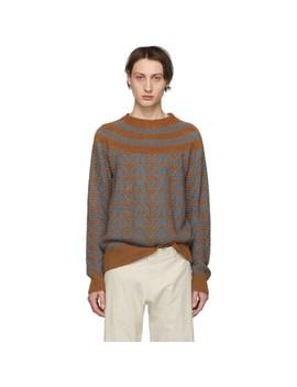 Brown & Grey Nepal Sweater by Dries Van Noten