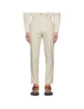 Off White Peeler Trousers by Dries Van Noten