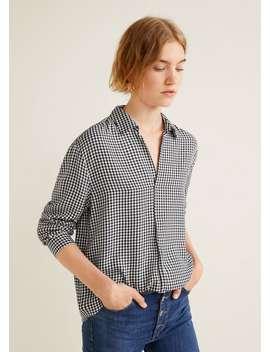 Camisa Fluida Quadrados by Mango