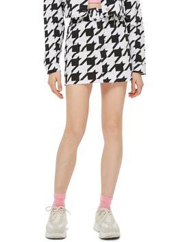 Dogstooth Denim Skirt by Topshop