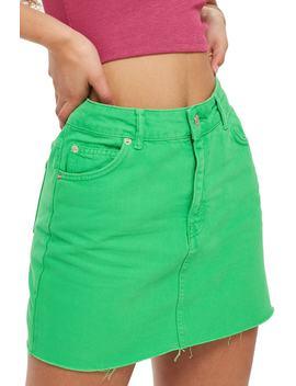 Moto High Waist Denim Skirt by Topshop