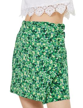 Green Meadow Ruffle Miniskirt by Topshop
