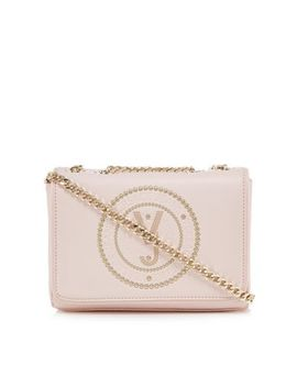 Versace Jeans   Pink Studded Cross Body Bag by Versace Jeans