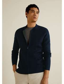 Structured Cotton Cardigan by Mango