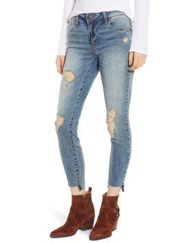Sts Blue Emma Ripped Step Hem Skinny Jeans by Swat Fame
