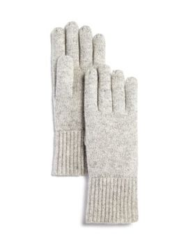 Chunky Rib Trim Cashmere Gloves   100 Percents Exclusive by C By Bloomingdale's