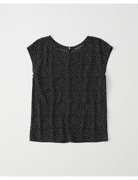 Woven Button Back Tee by Abercrombie & Fitch