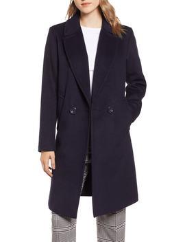 Double Breasted Wool Blend Coat by Rachel Rachel Roy