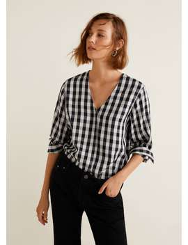Blusa Quadrados Vichy by Mango